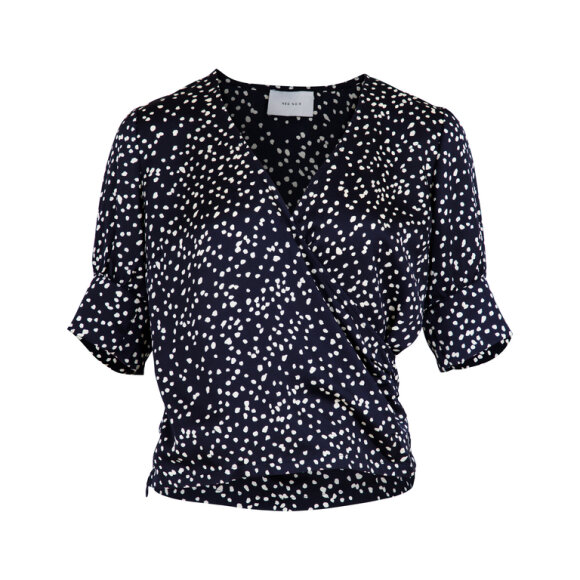 NEO NOIR - NAVY ISA BIG DOT BLUSE