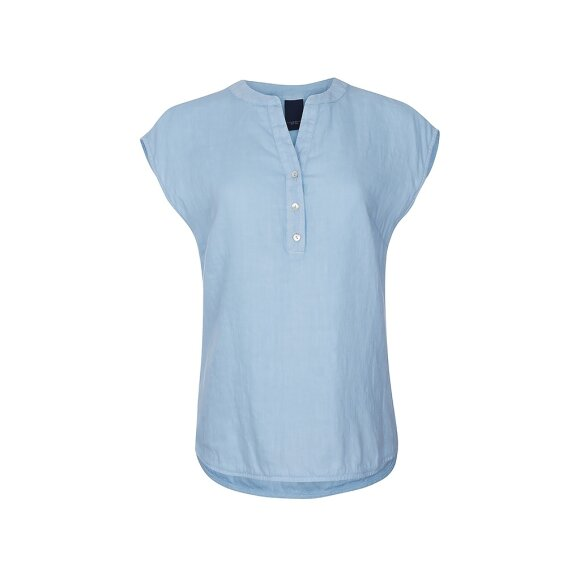 ONE TWO LUXZUZ - KISSER BLOUSE ICE BLUE