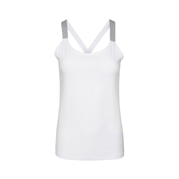ONE TWO LUXZUZ - TOP - WHITE/SILVER
