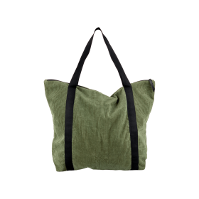 BLACK COLOUR - ARMY VELOUR SHOPPER
