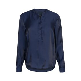 ONE TWO LUXZUZ - NAVY KORA BLUSE