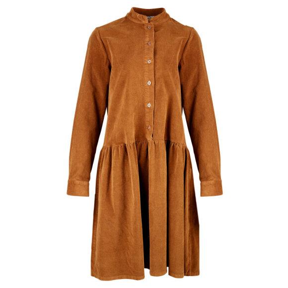 TIFFANY - SHORT DRESS, CORDUROY - TABACC