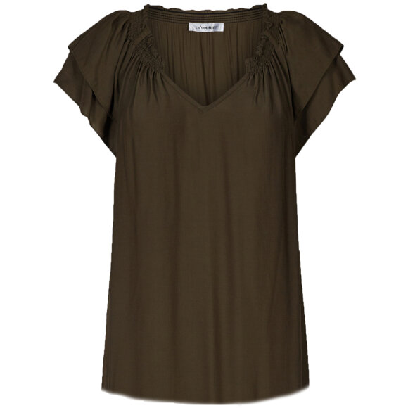 CO COUTURE - SUNRISE ARMY TOP