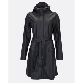 RAINS - CURVE JACKET - BLACK