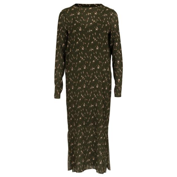 NEO NOIR - VOGUE GREEN FLOWER DRESS