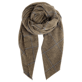 BLACK COLOUR - DALLAS CHECK SCARF