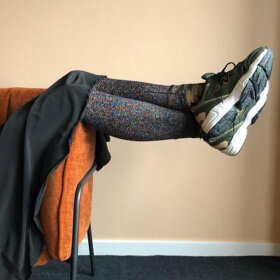 BLACK COLOUR - MY MULTICOLOURED LEGGINGS
