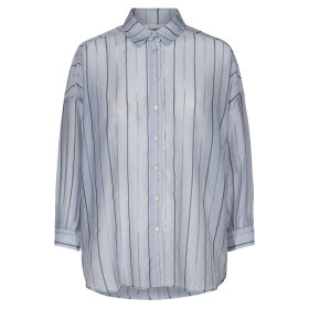 CO COUTURE - NYLA STRIPE SHIRT DUSTY BLUE