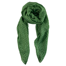 BLACK COLOUR - BUBBLES SCARF - GREEN