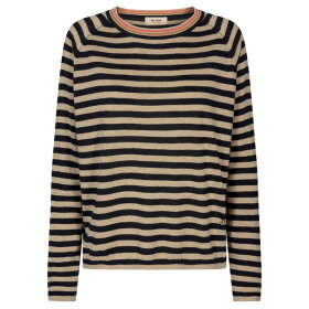 MOS MOSH - WYN STRIPE KNIT BLACK