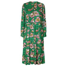 LOLLYS LAUNDRY - KAIA DRESS DARK GREEN