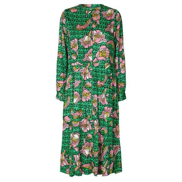 LOLLYS LAUNDRY - KAIA DRESS DARK GREEN