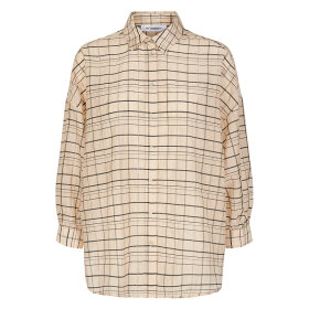 CO COUTURE - LUU CHECK SHIRT BONE