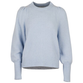 NEO NOIR - LIGHT BLUE KELSEY KNIT BLOUSE