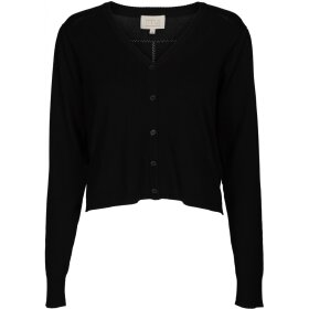 MINUS - EVITA CROPPED CARDIGAN BLACK