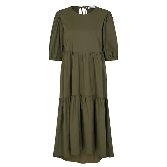 CO COUTURE - ARMY CECILIE POPLIN DRESS