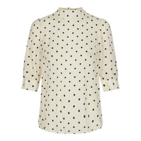 CO COUTURE - JAGGER DOT BLOUSE BONE
