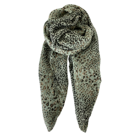 BLACK COLOUR - LILY LEO SCARF OLIVE