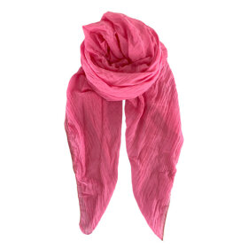 BLACK COLOUR - EMMA PLAIN SCARF PINK