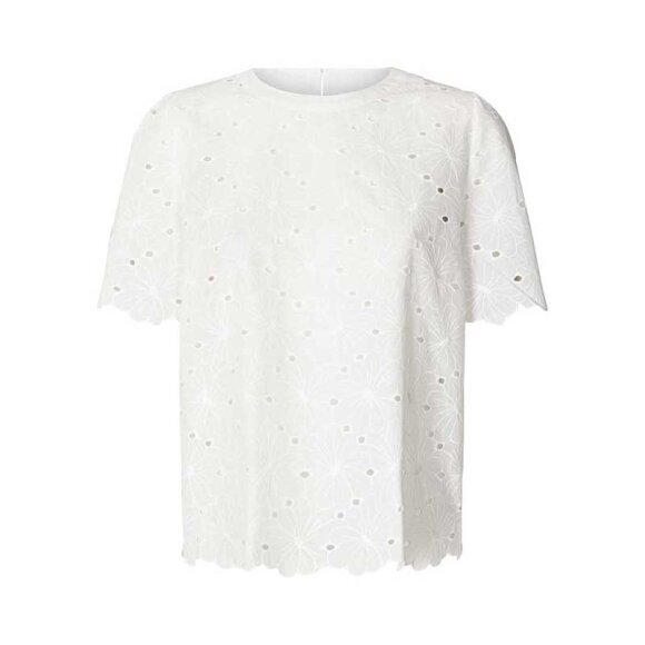 LOLLYS LAUNDRY - CHRISTINA TOP WHITE
