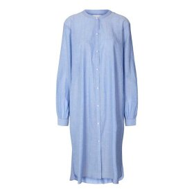 LOLLYS LAUNDRY - BASIC SHIRT DRESS DUSTU BLUE