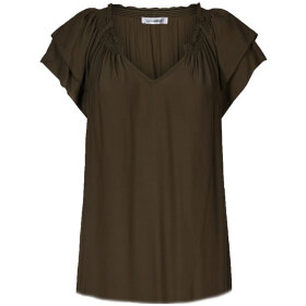 CO COUTURE - SUNRISE TOP DARK ARMY