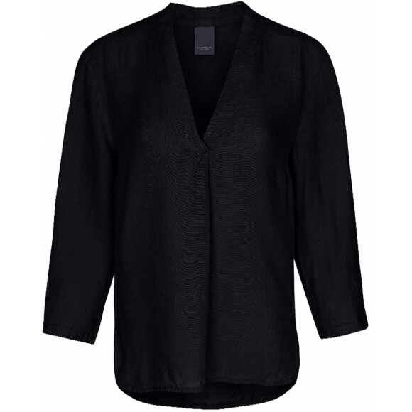 ONE TWO LUXZUZ - SORT INGALIL BLOUSE