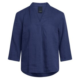 ONE TWO LUXZUZ - INGALIL BLOUSE INDIGO BLUE