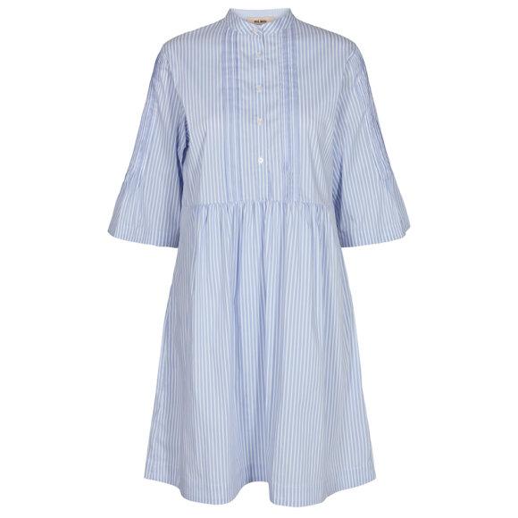 MOS MOSH - AMANDA STRIPE DRESS BLUE