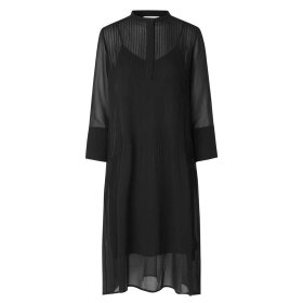 SAMSØE SAMSØE - BLACK ELM SHIRT DRESS 9695
