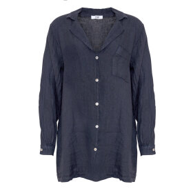 TIFFANY - SHIRT LINEN BLUE NAVY