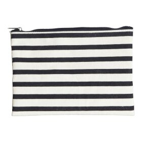 HOUSE DOCTOR - MAKEUP BAG, STRIPES BLACK/WHIT