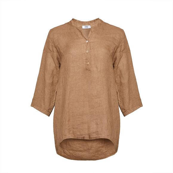 TIFFANY - 17661 Shirt Camel Linen