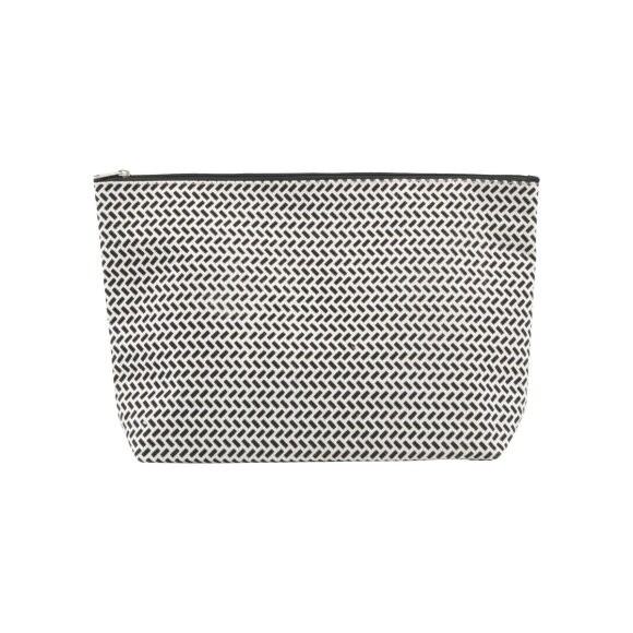 HOUSE DOCTOR - TOILETTRY BAG, PARAN BLACK/WHI