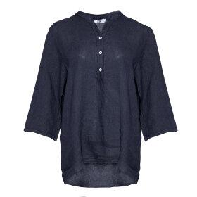 TIFFANY - Shirt, Navy, Linen