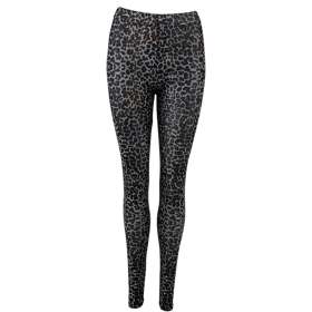 BLACK COLOUR - GREY LEO ANNIE MESH LEGGINGS