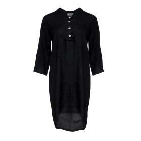 TIFFANY - BLACK LONG SHIRT LINEN