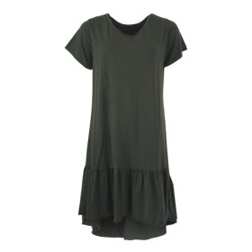 BLACK COLOUR - ARMY SANN JERSEY DRESS