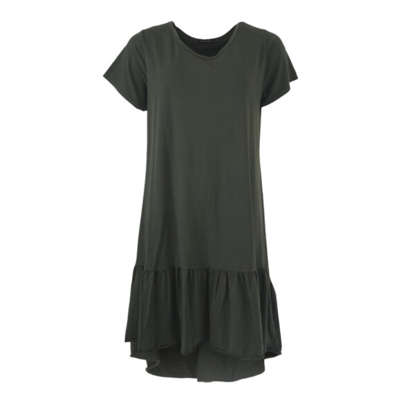 BLACK COLOUR - ARMY SANN JERSEY DRESS