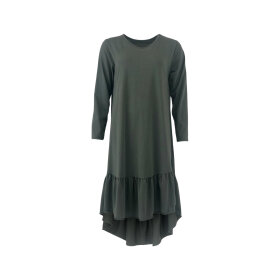 BLACK COLOUR - ARMY SANNA JERSEY DRESS