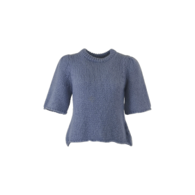 BLACK COLOUR - JEANS BLUE EDITH KNIT BLOUSE