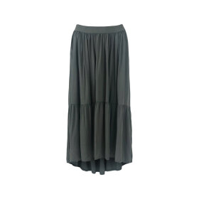 BLACK COLOUR - DARK ARMY HEIDI MIDI SKIRT