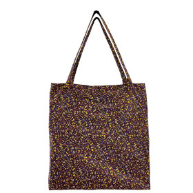 BLACK COLOUR - PURPLE LULU BLOSSOM SHOPPER