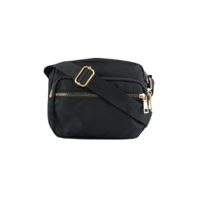 BLACK COLOUR - BLACK VIGGY NYLON BAG