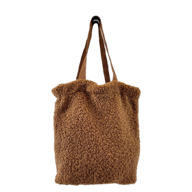 BLACK COLOUR - CAMEL TEDDY TOTE BAG