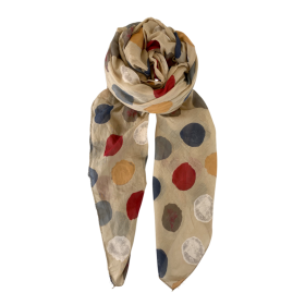 BLACK COLOUR - SAND MANNA DOT SCARF