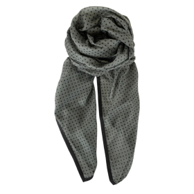 BLACK COLOUR - ARMY CORA DOT SCARF
