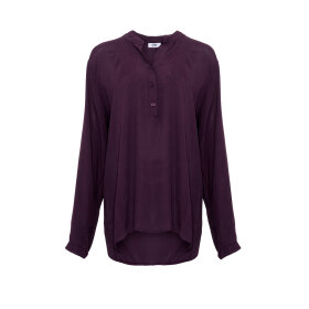 TIFFANY - LONG SLEEVE SHIRT AUBERGINE