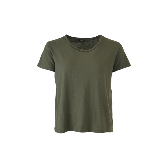 BLACK COLOUR - ARMY ISA S/S T-SHIRT