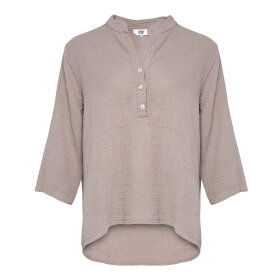 TIFFANY - NOUGAT SHIRT DOUBLE COTTON